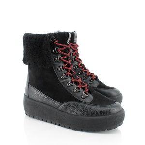 Coach Shoes - Coach | Tyler Fold Over Fur Platform Wedge Boots